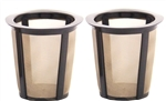 2 Gold Tone 1-Kup (TM) Reusable Coffee Filters
